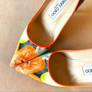 JIMMY CHOO Floral Pumps, Size 36